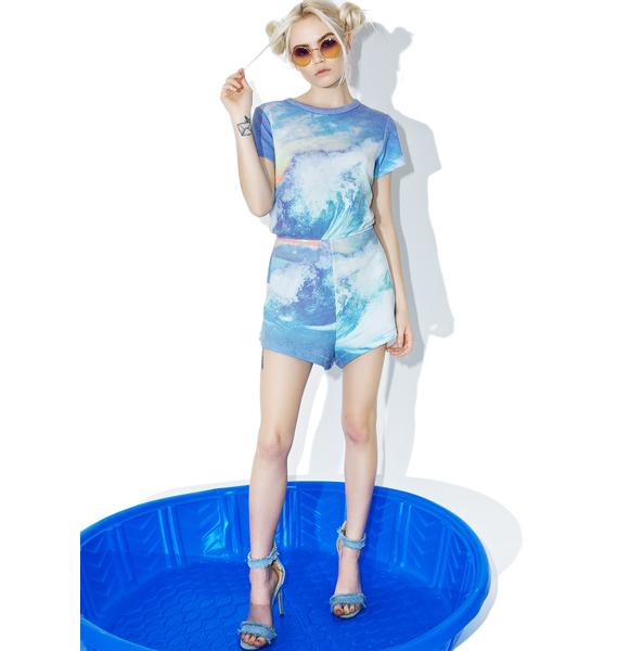 Wildfox Couture Blue Crush Cruise Romper