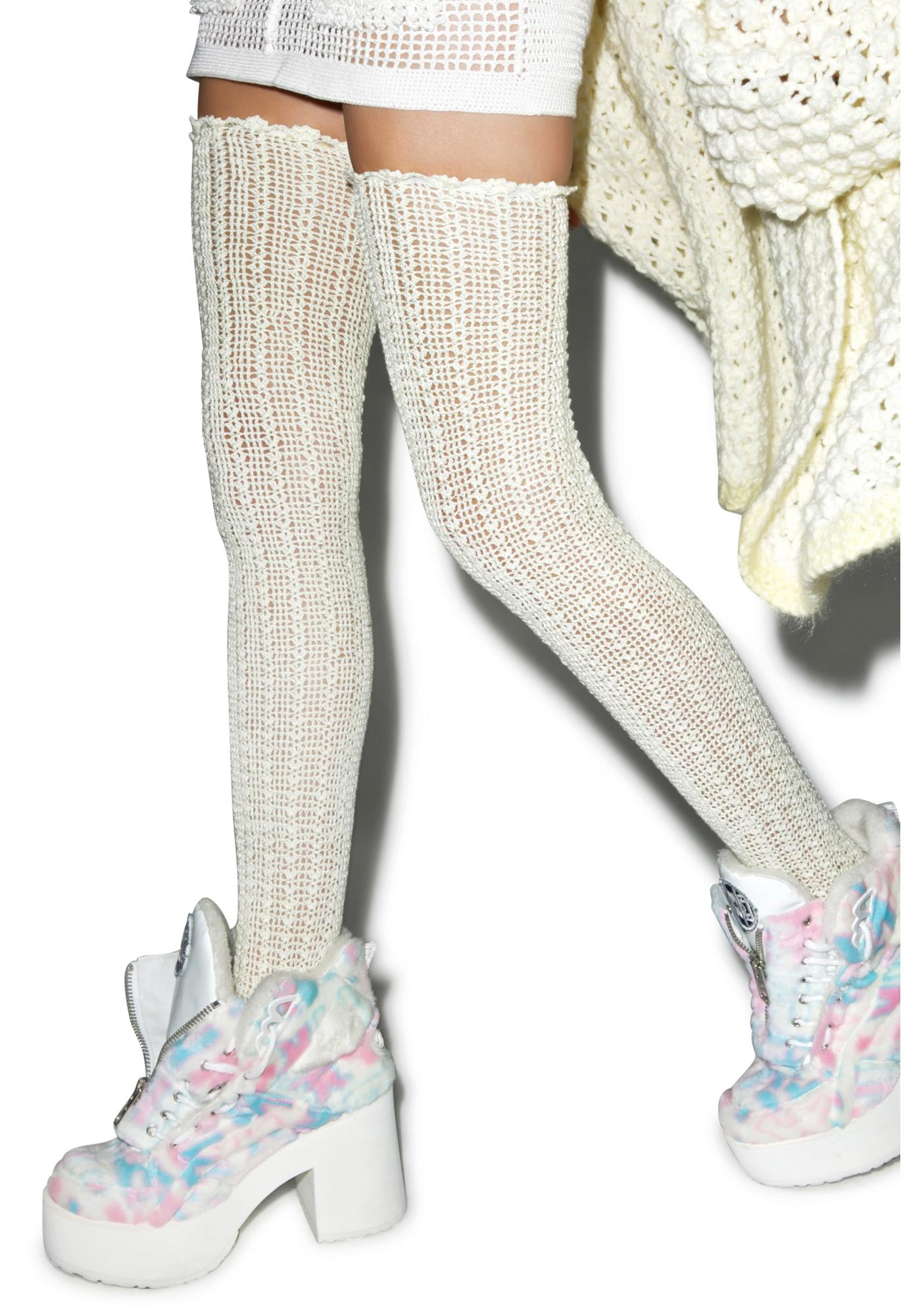 Maria ke Fisherman Crochet Thigh Highs