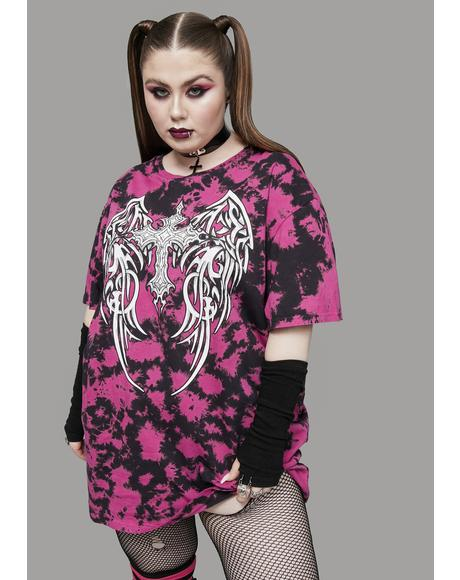 Of Gods And Monsters Tie Dye Graphic Tee