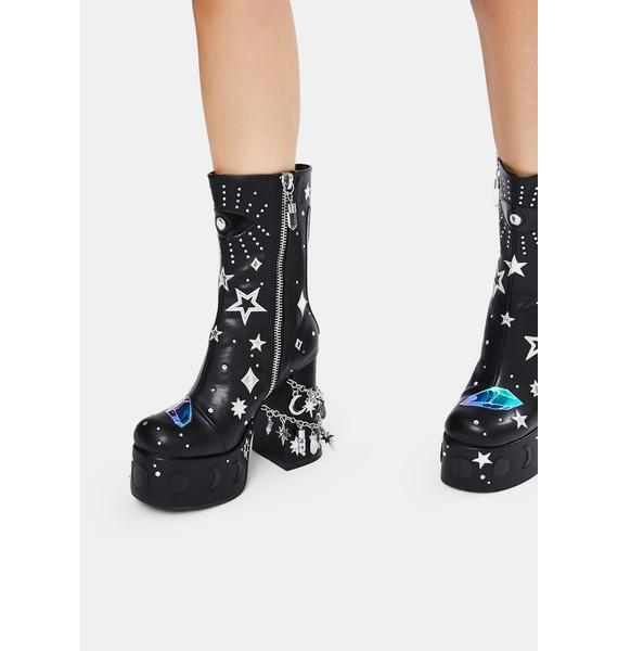 HOROSCOPEZ Wicked Divination Platform Boots