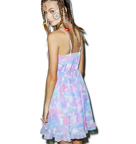 Japan L.A. Little Twin Stars Dreamy Unicorn Babydoll Dress