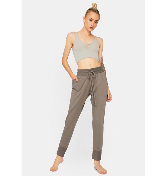 Free People Charcoal Sunny Skinny Sweatpants