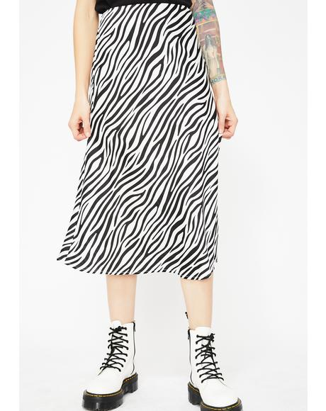 Animalistic Behavior Zebra Skirt