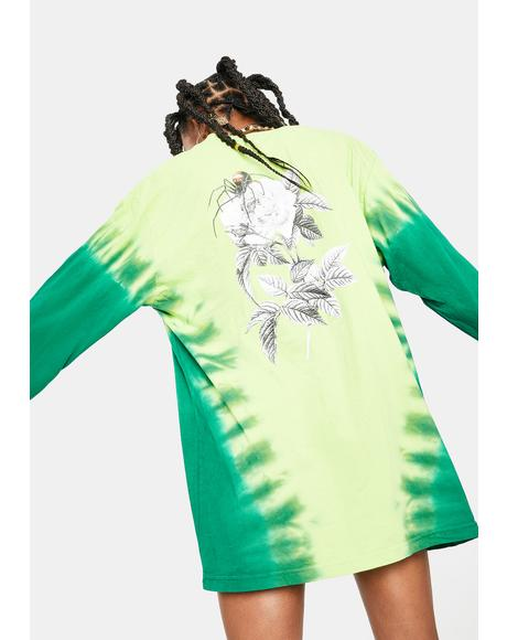 Bio Lime Widow Long Sleeve Graphic Tee