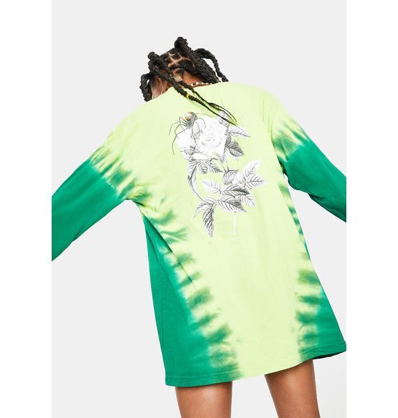 HUF Bio Lime Widow Long Sleeve Graphic Tee