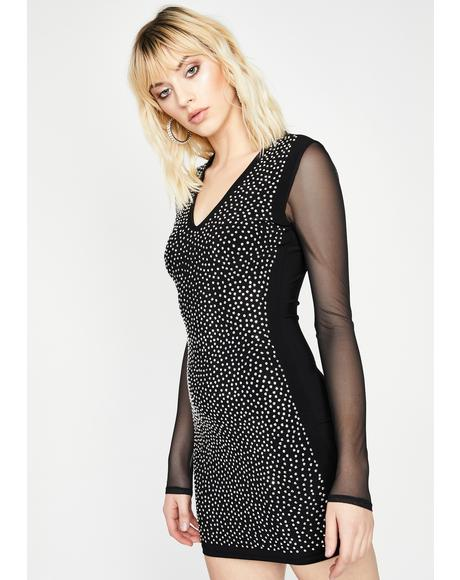 Got Ur Attention Rhinestone Dress