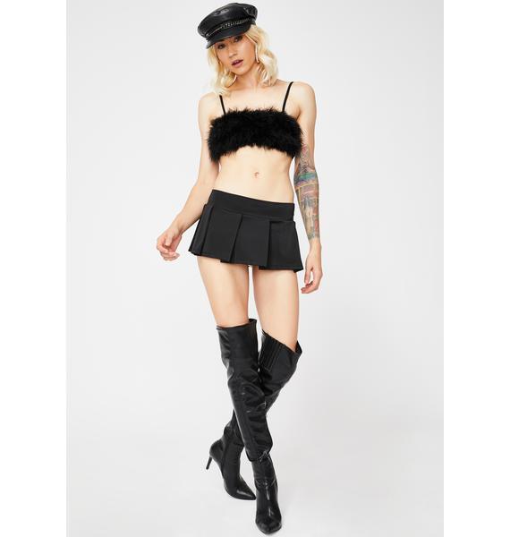 Dark Tease Me Please Mini Skirt