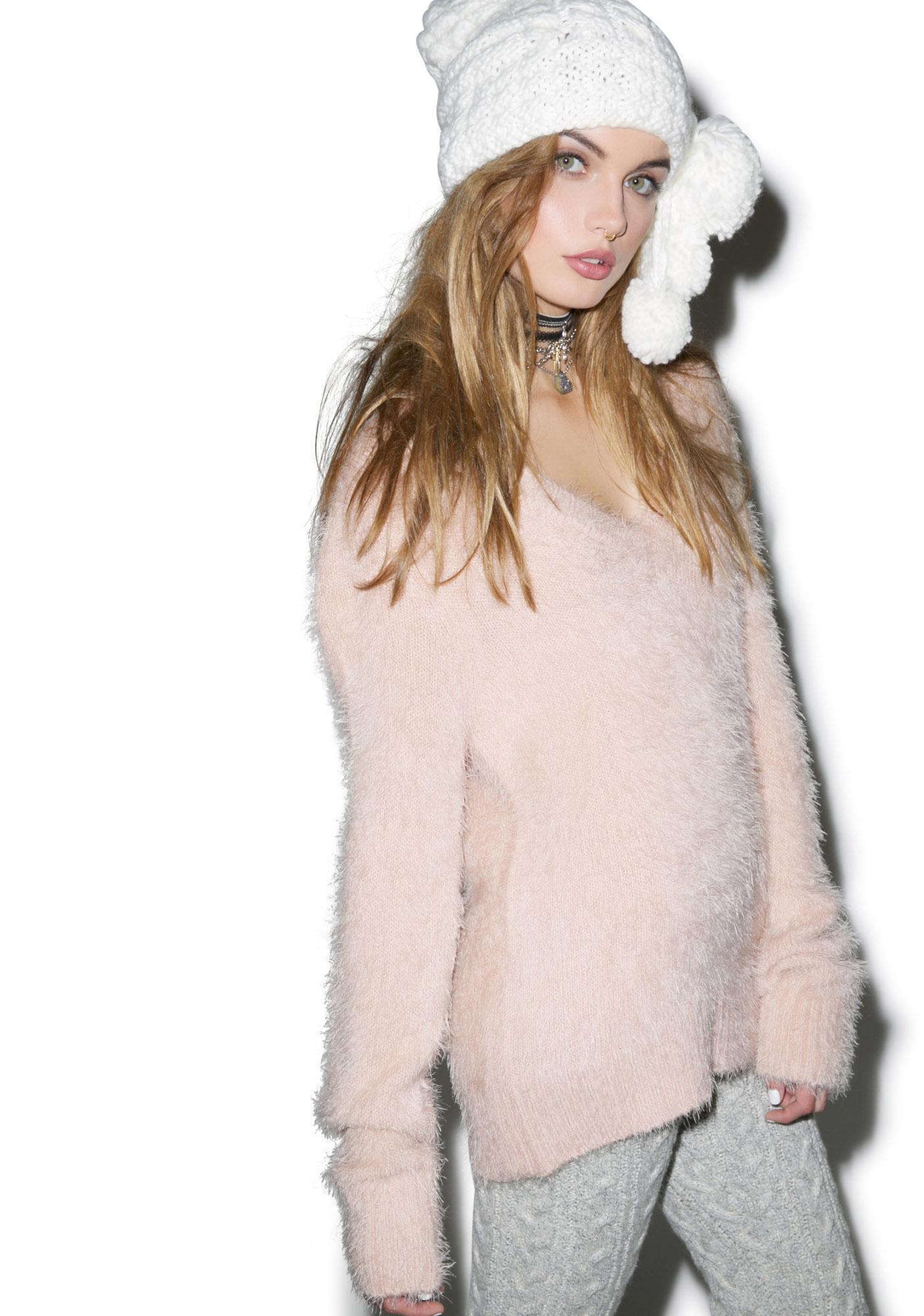 For Love & Lemons Ski Bunny Oversized Sweater