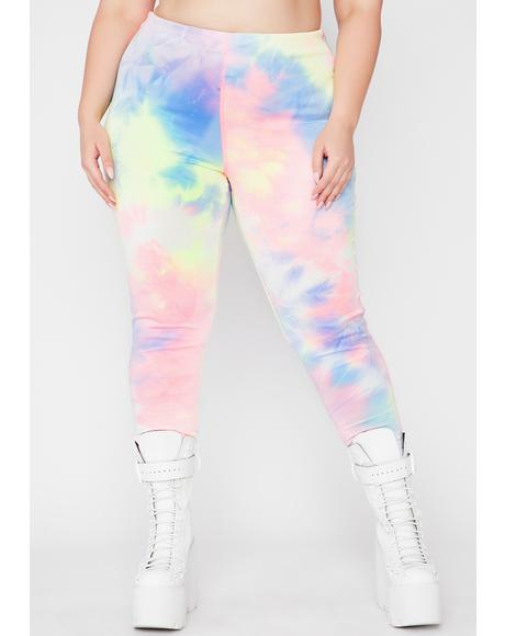 I'm Just Chillin' Tie Dye Leggings