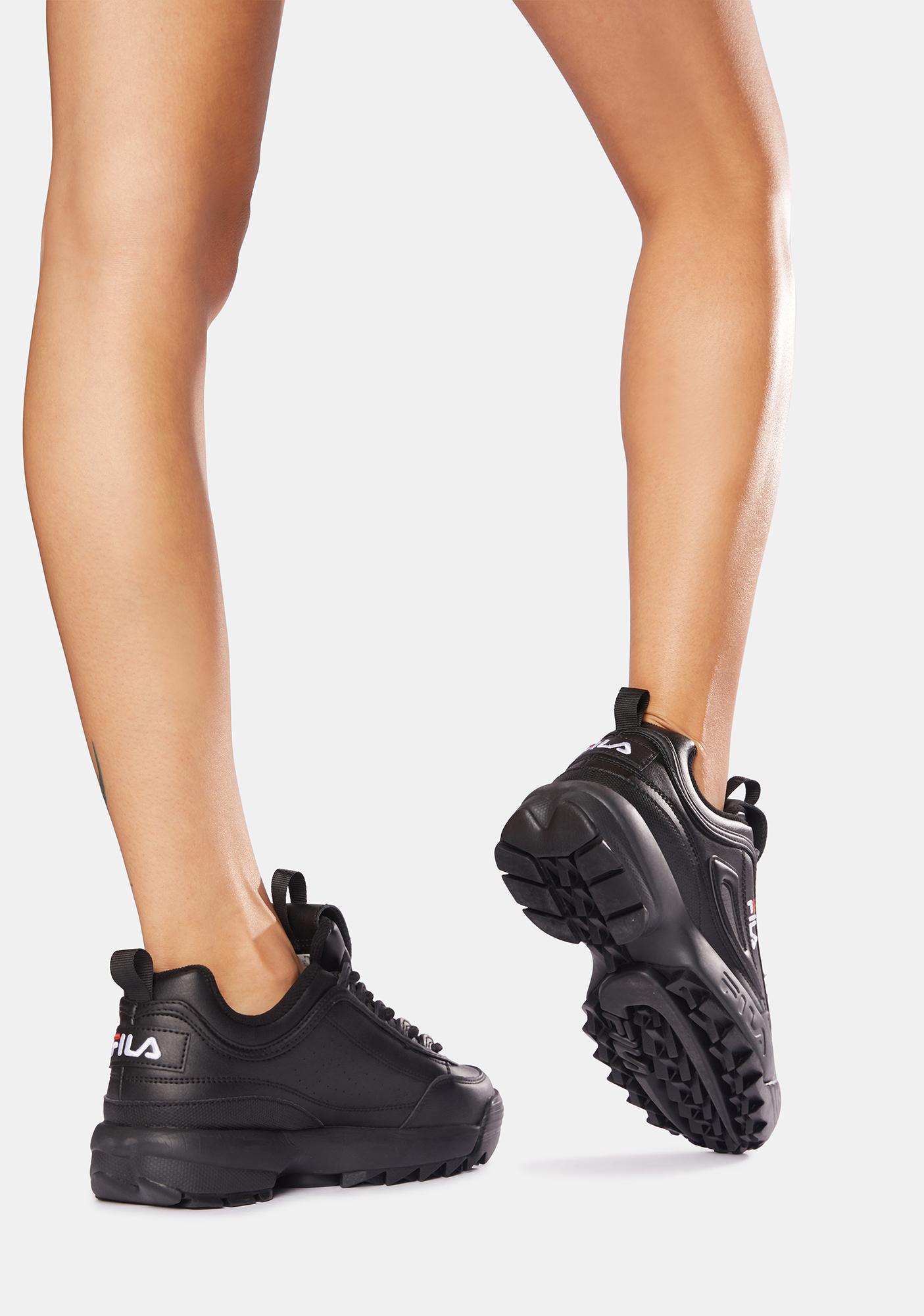 Fila Black Disruptor II Premium Sneakers