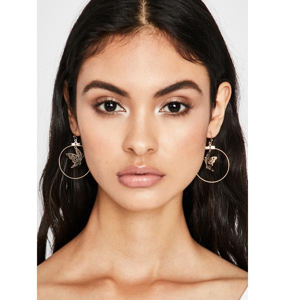 Flawless Flutter Drop Earrings