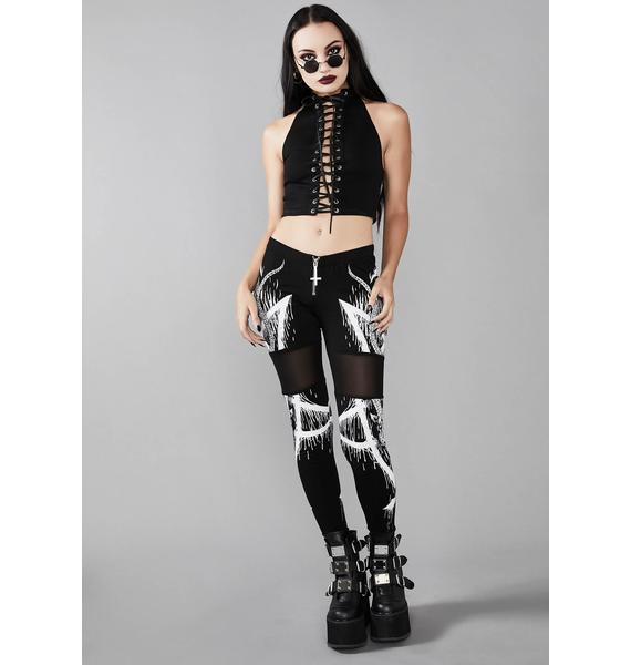 Widow Immortal Revolution Lace Up Top
