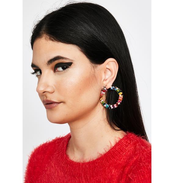 Candy Roxxx Rhinestone Earrings