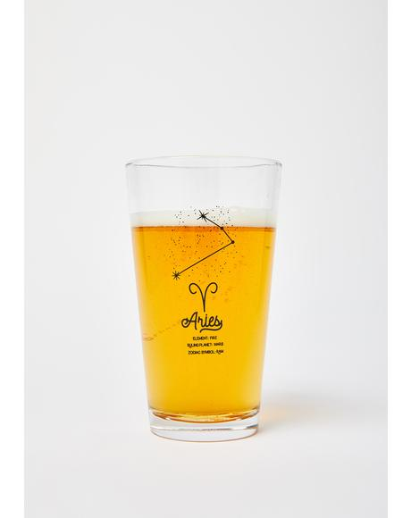 Aries Star Sign Pint Glass