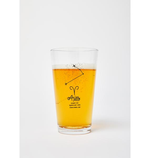 Femfetti Aries Star Sign Pint Glass
