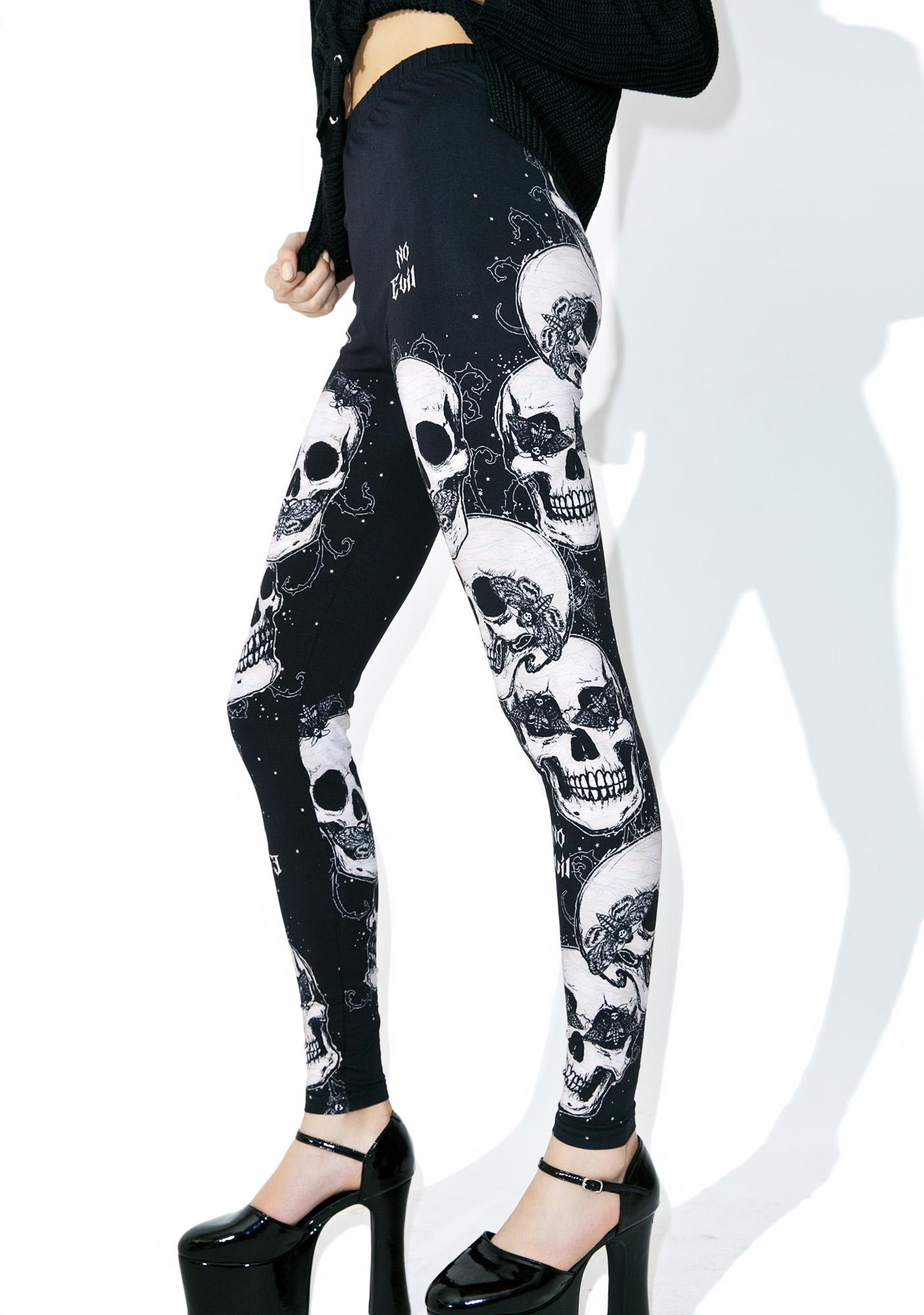 Bone Goddess Printed Leggings