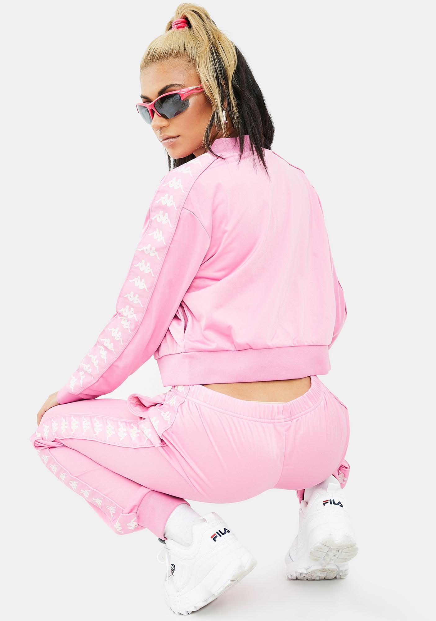 Kappa Pink 222 Banda Wrastoria Track Pants