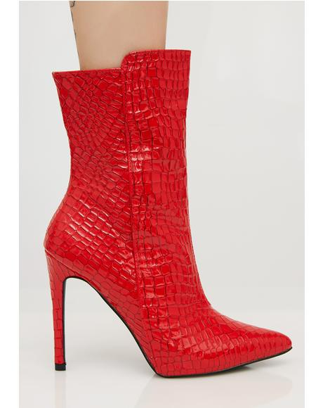 Chile Patent Ankle Boots