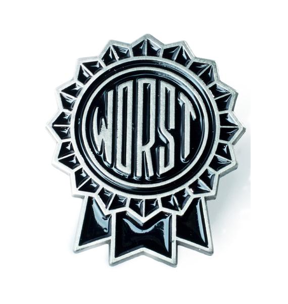 Sourpuss Clothing The Worst Enamel Pin
