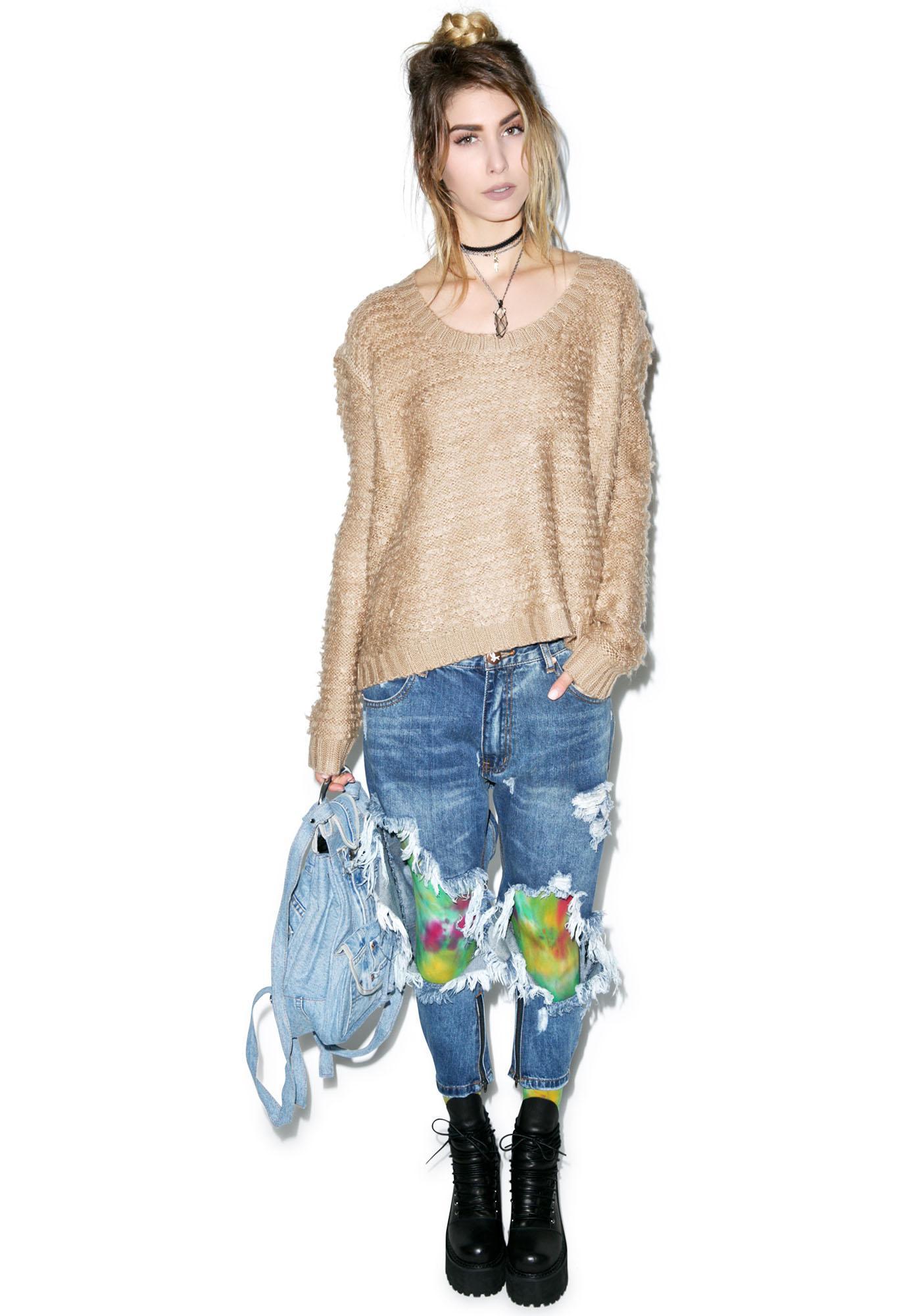 Somedays Lovin Turntable Fluffy Knit Sweater