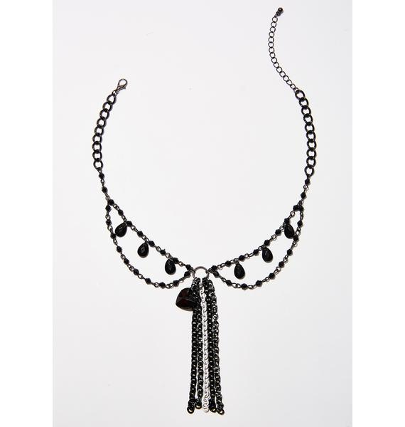 Queen Of Darkness Tassel Necklace