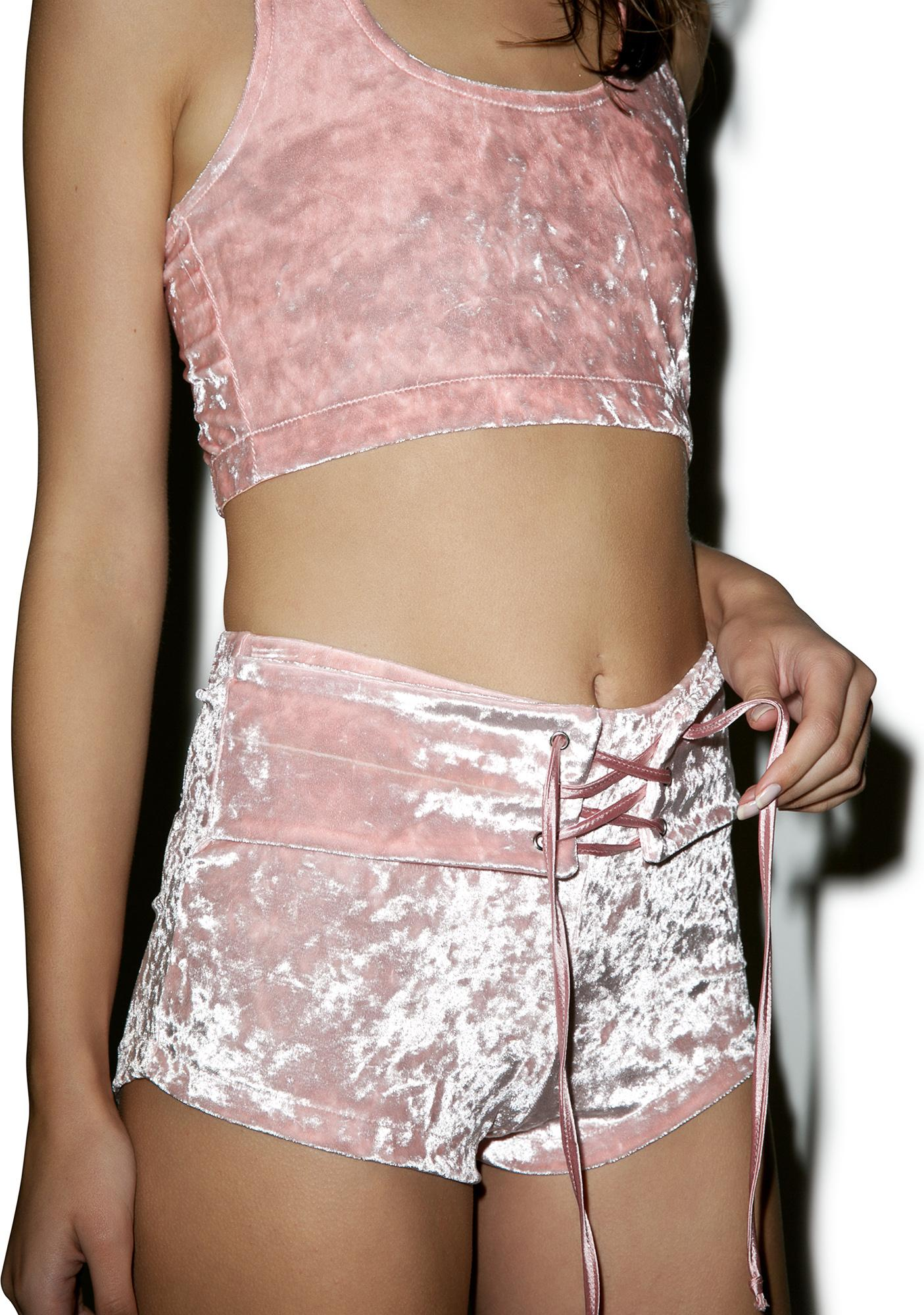 24HRS Your Velvet Crush Lace Front Shorts