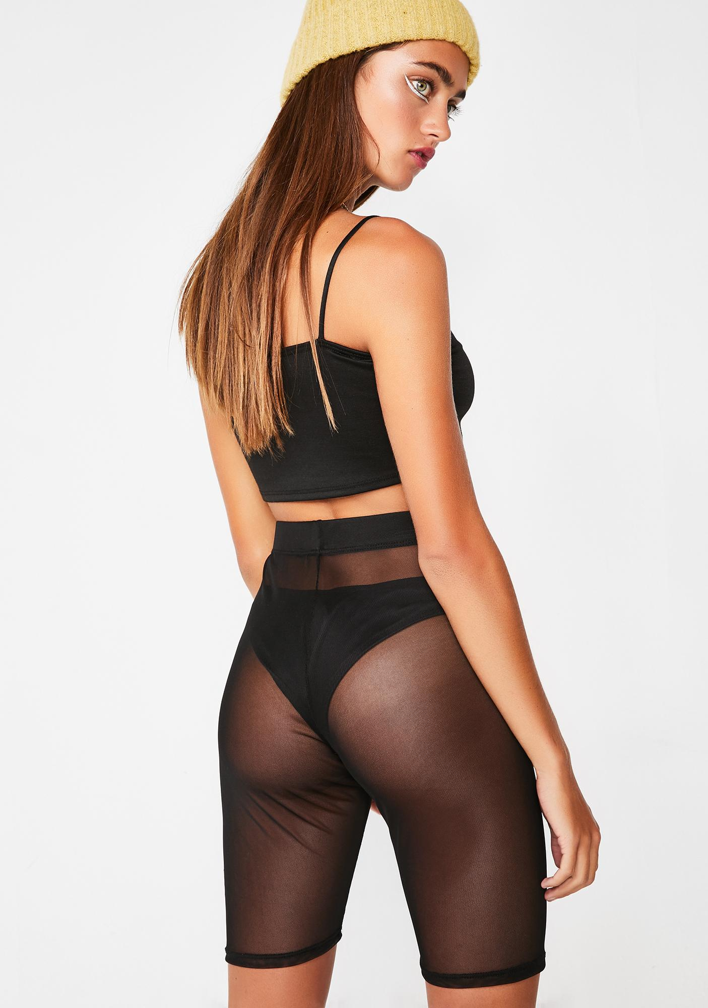 Midnight Sheer Ecstasy Biker Shorts