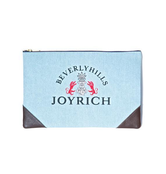 Joyrich High Beverly Hills Denim Clutch Bag
