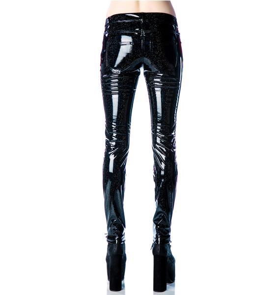 Lip Service Glitter PVC Skinny Jeans