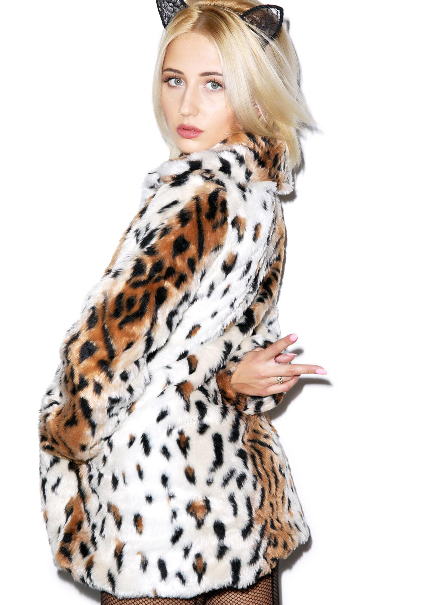 Motel Fudge Faux Fur Jacket
