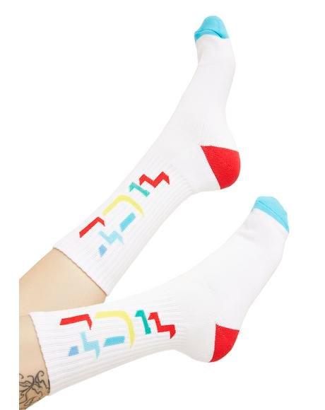 Outline HUF Crew Socks