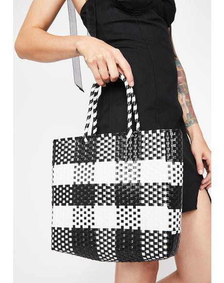 Picnic Plan Checkered Bag