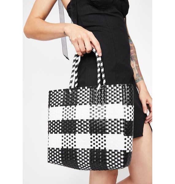 Picnic Plan Checkered Bag