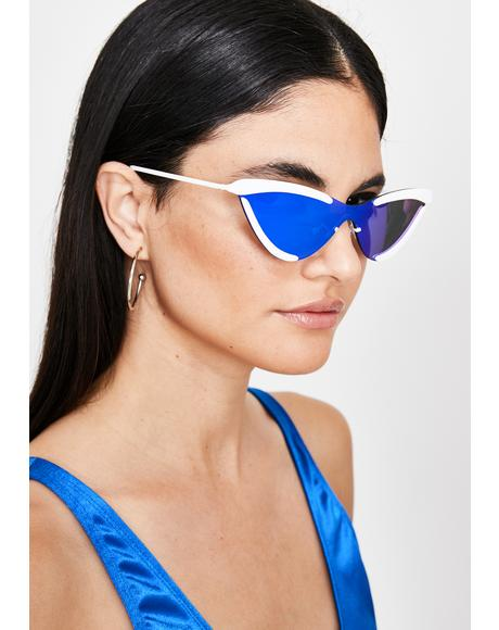 Solar Flair Cat Eye Sunglasses