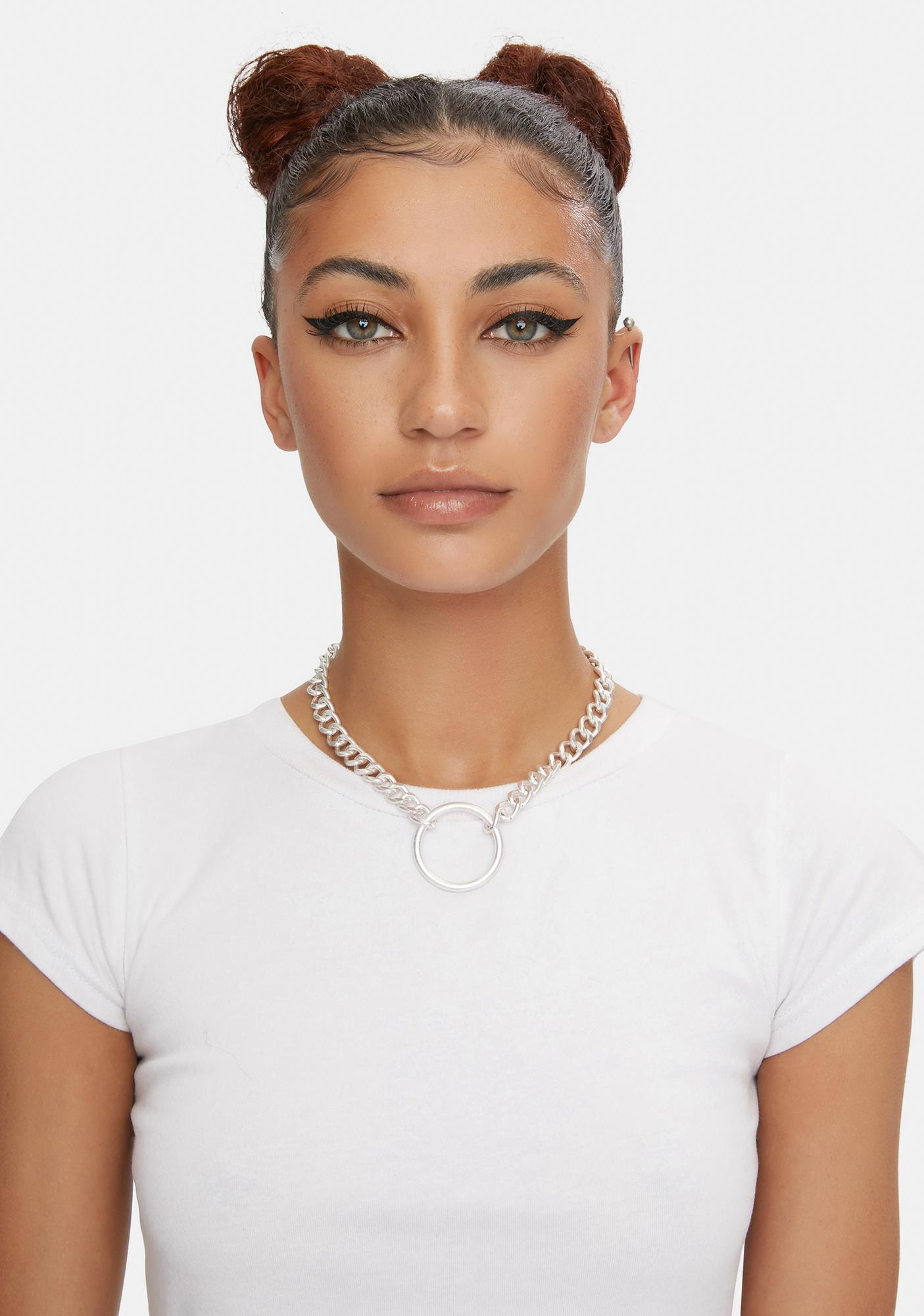 Foil U Got Curved O-Ring Chain Necklace