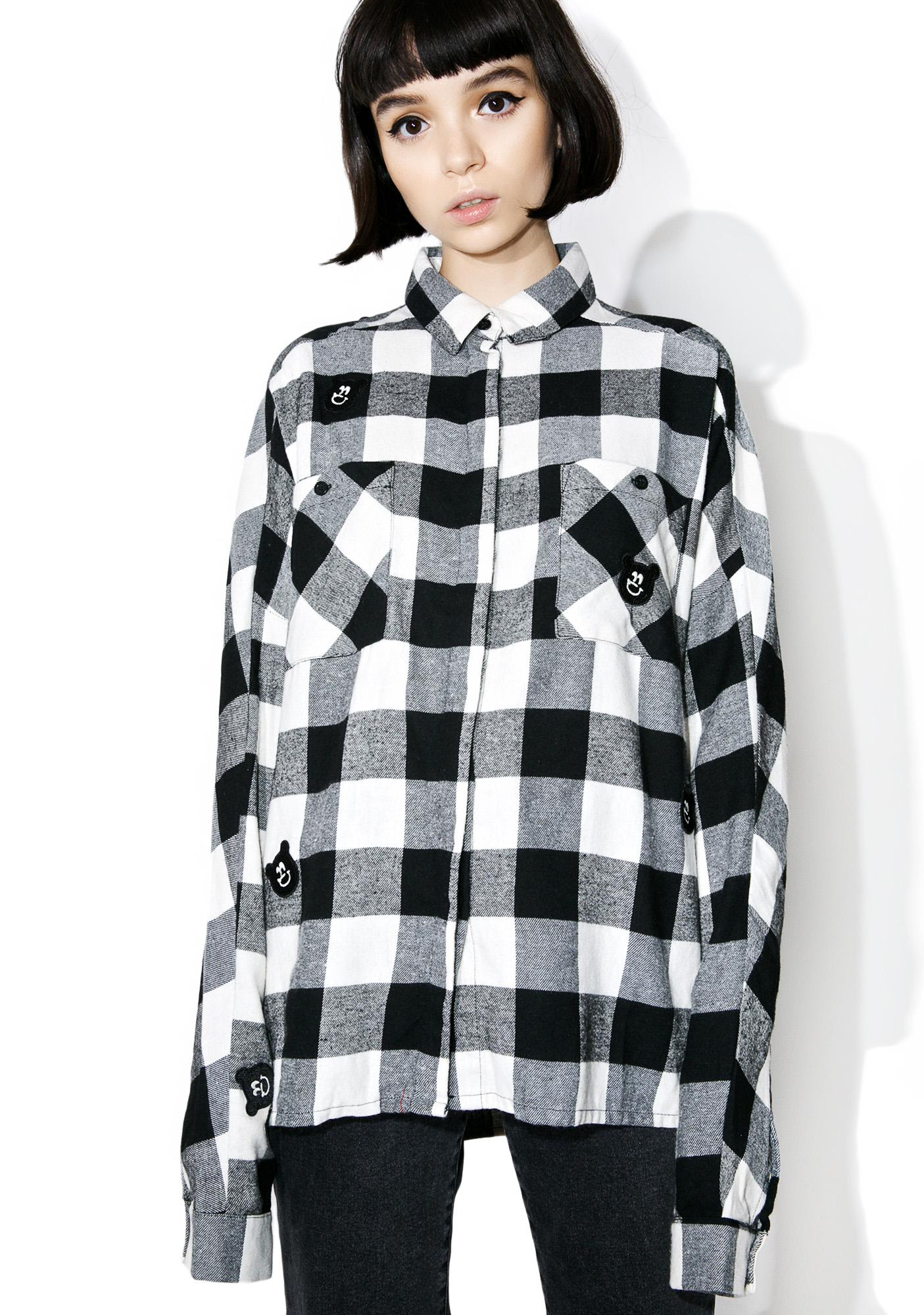 Lazy Oaf Bear Check Shirt