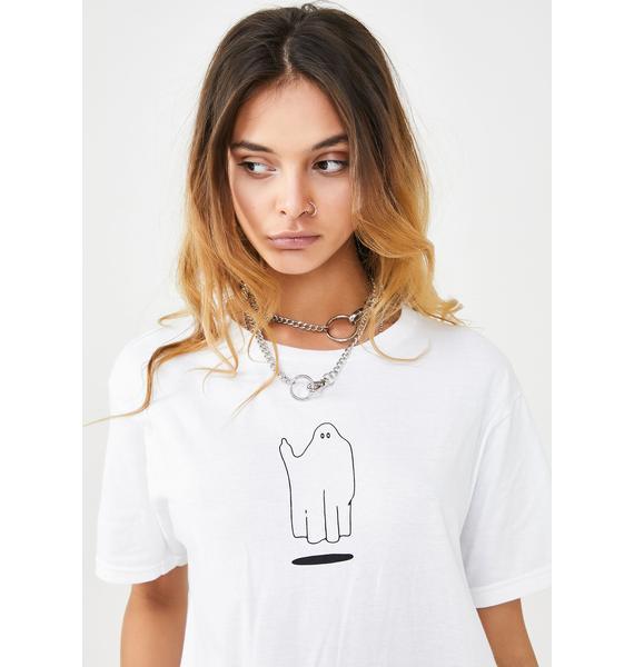 MNKR Ghost Finger Graphic T-Shirt