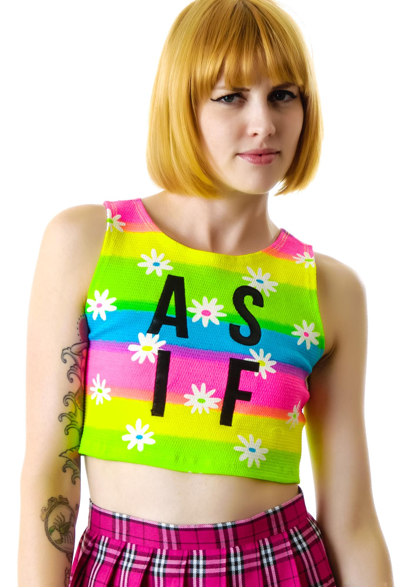 Dimepiece As If Daisy Crop Top
