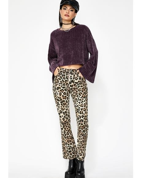 Grape Cozie Cutie Chenille Sweater