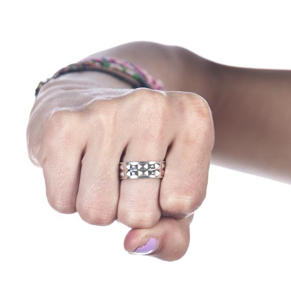 Stolen Girlfriends Club Punk Stud Ring