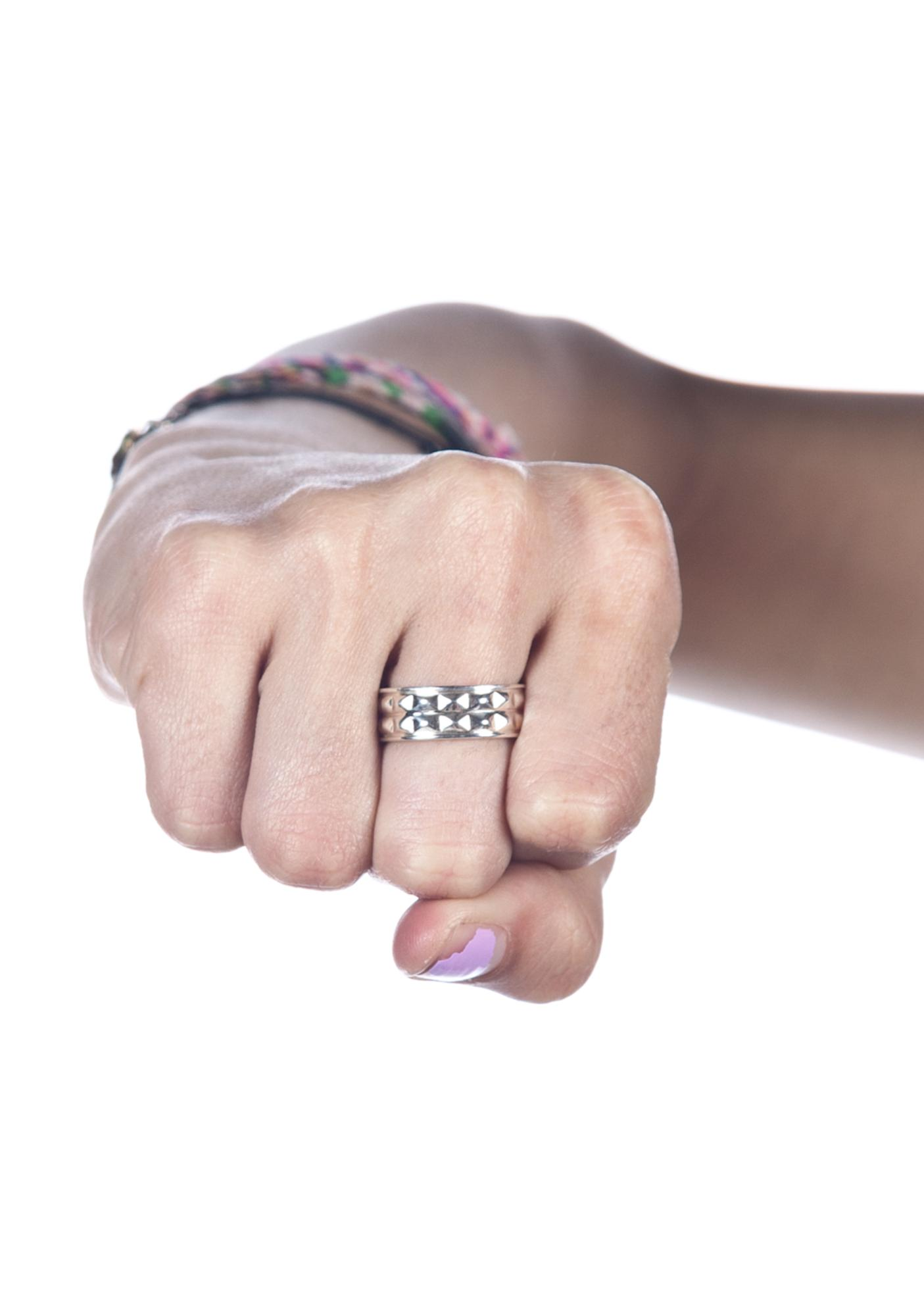 Stolen Girlfriends Club Punk Stud Ring | Dolls Kill