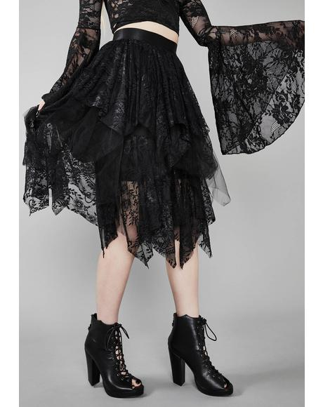 Bone Chilling Lace Skirt