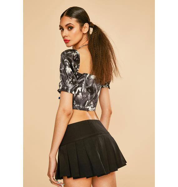 Current Mood Laws Of Nature Puff Sleeve Top