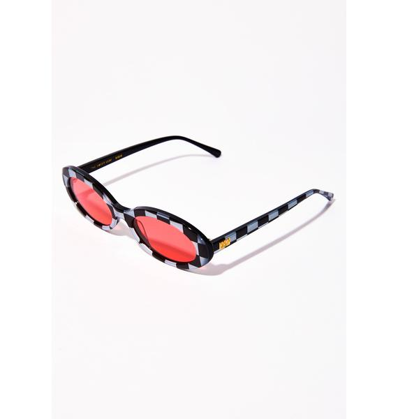 Crap Eyewear Checkerboard Sweet Leaf Sunglasses