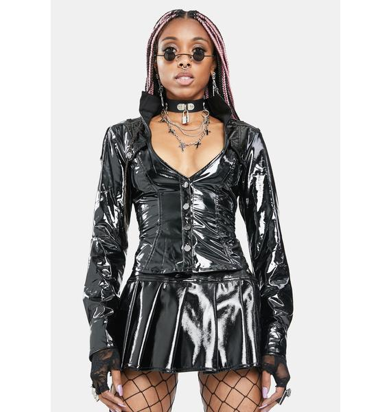 Punk Rave Meteora Patent Jacket