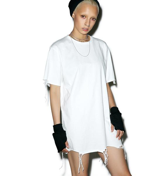 Black Scale Destroyed Tee