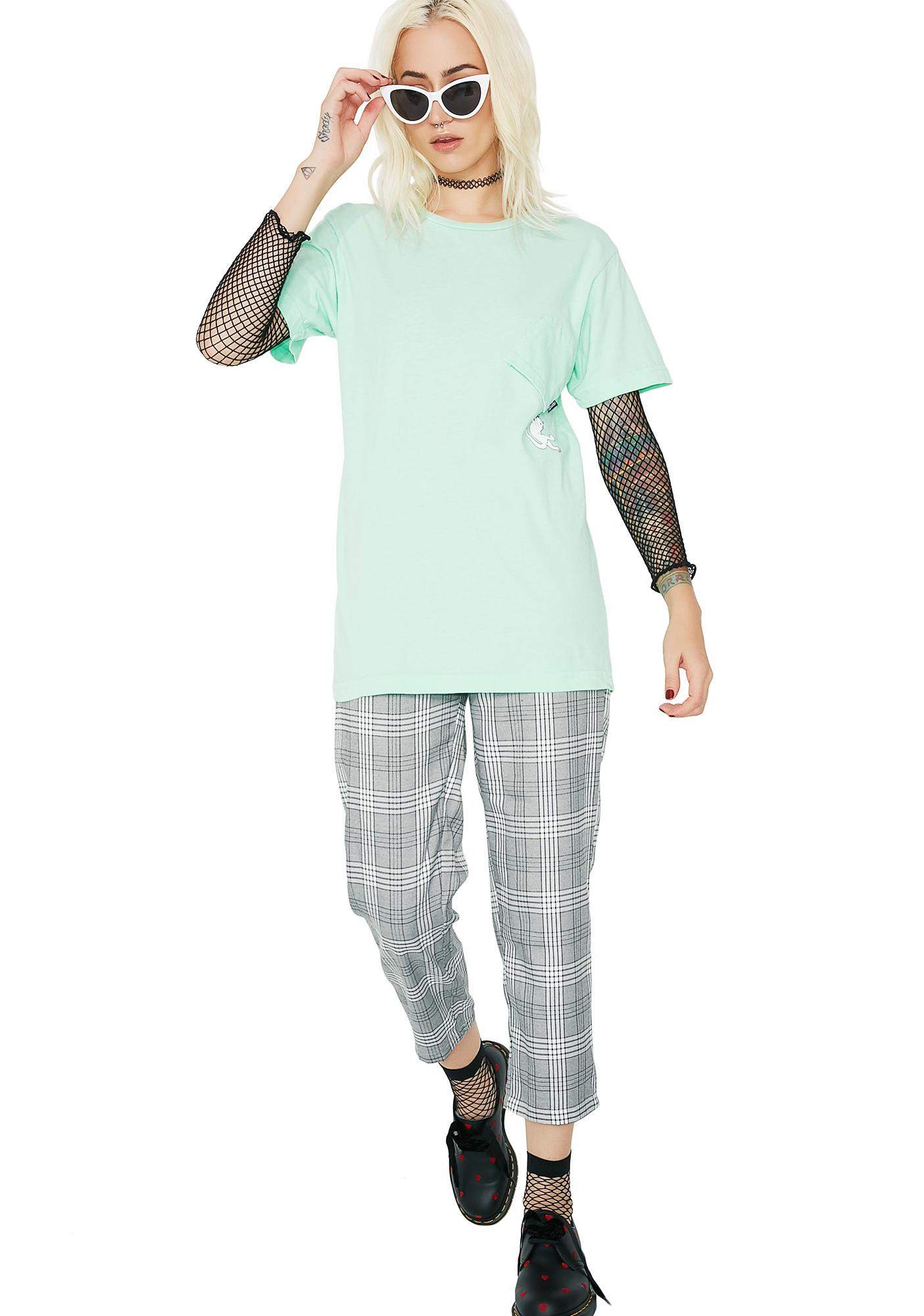 RIPNDIP Pastel Green Hang In There Tee