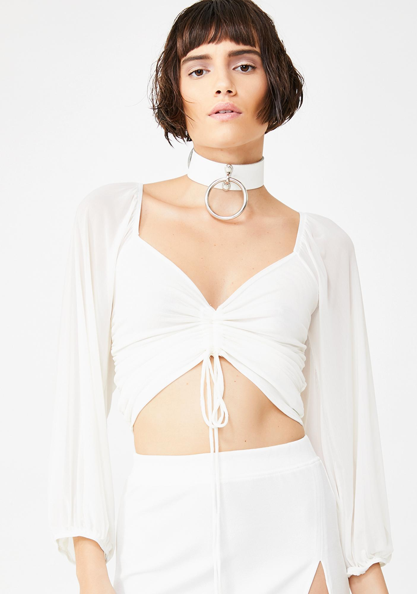 Angelic Sunshine Ruched Top