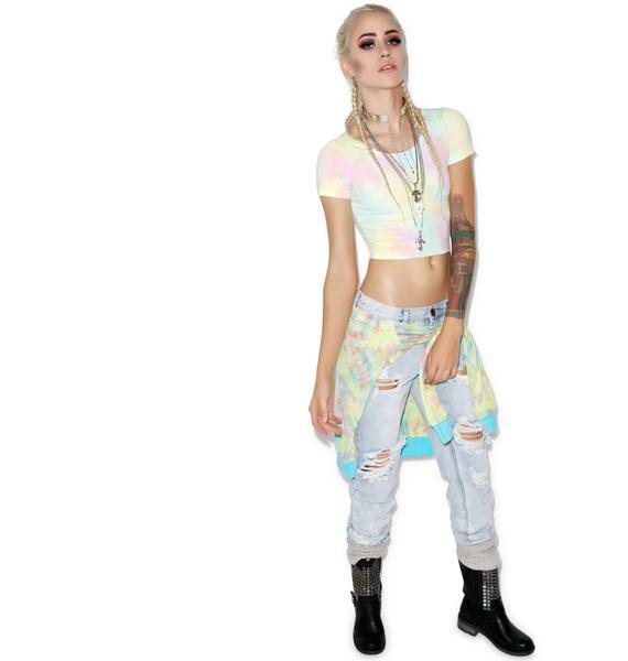 MeYouVersusLife I Dye Crop Shirt