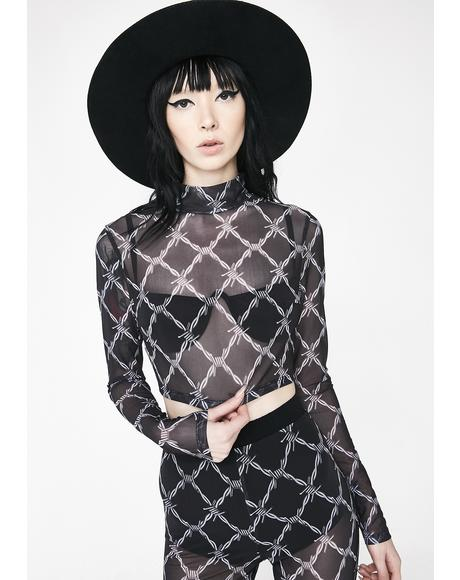 Barbwire Mesh Top